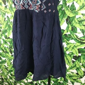Lush Dresses - 5 for $25 Lush Navy Blue Embroidered Mini Dress